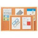 korková tabule jednostranná 40x60, Economy dřevěný rám