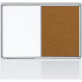 kombinovaná tabule 90x120 korek/magnet., rám ALU23