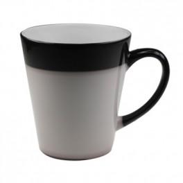 černé latté hrnečky 0,3l v. 9,8cm,  měnící