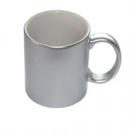 stříbrný hrnek