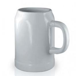 Beer stein - bílý půllitr kónický