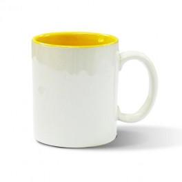 hrnek bílý - vnitřek žlutý