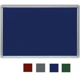 filcová zelená tabule 120x180 cm, rám ALU23