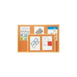 oboustranná korková tabule Economy 90x120, dřevěný rám