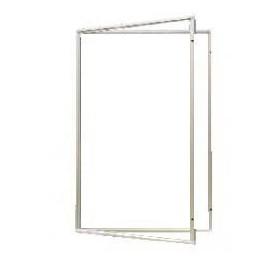 vitrína s vertikálním otevíráním 120x90cm, magnet. vnitřek, mod.2