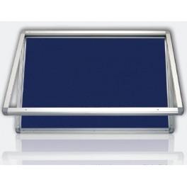 vitrína s horizontálním otevíráním model 1 výplň filc modrý 90x120