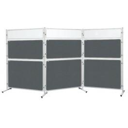 Panel 2x3 Modular, 120 x 180 cm, filcový šedý