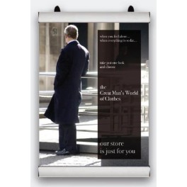 plakátová lišta z hliníkovém profilu, š. 841 mm