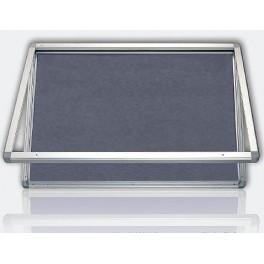 vitrína s horizontálním otevíráním, mod.1, výplň šedý filc 90x120