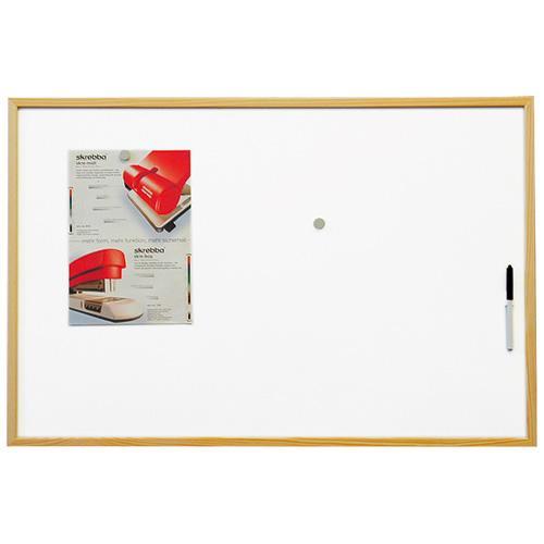 Economic Board 60x40, bílá magnetická tabule v dřevěném rámu